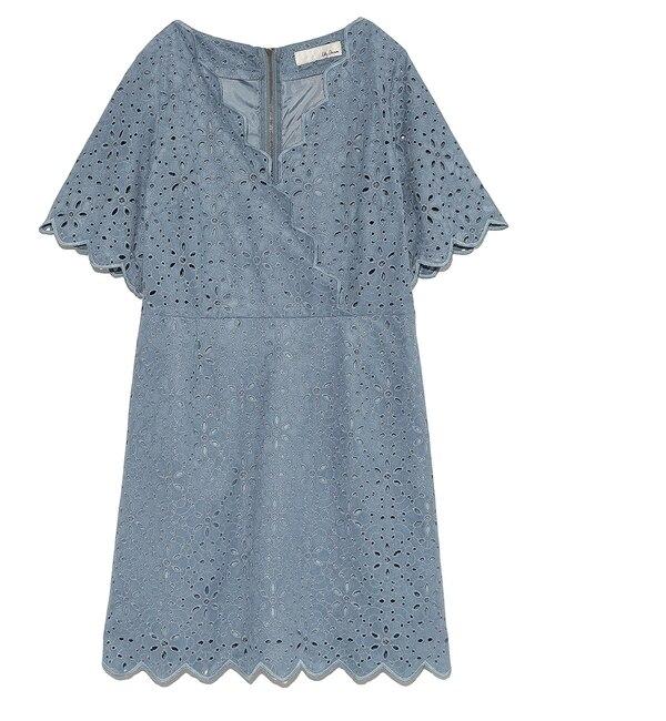 【リリーブラウン/Lily Brown】 スエード刺繍ジャンパースカート [送料無料]