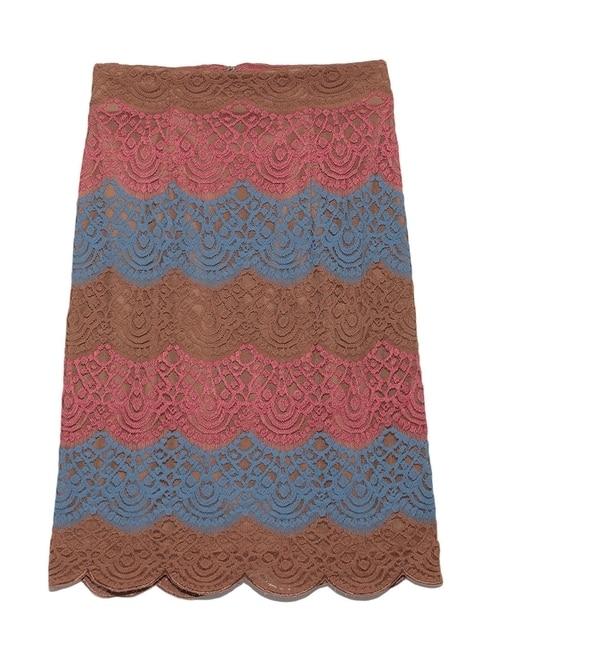 【リリーブラウン/Lily Brown】 カラーレースタイトスカート [送料無料]