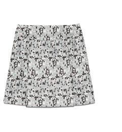 【リリーブラウン/Lily Brown】 刺繍台形スカート [送料無料]