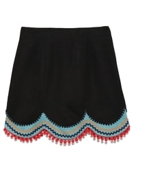 【リリーブラウン/Lily Brown】 台形切り替えスカート [送料無料]