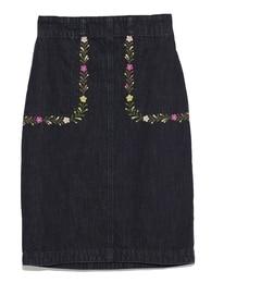 【リリーブラウン/Lily Brown】 メキシコ刺繍デニムスカート [送料無料]