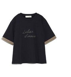 【リリーブラウン/Lily Brown】 ベルベットラインロゴTシャツ [送料無料]