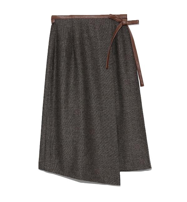【リリーブラウン/Lily Brown】 パイピングラップスカート