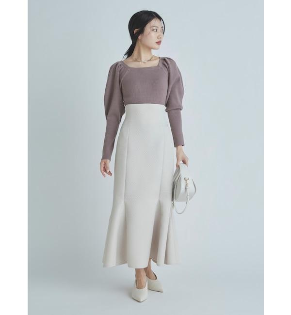 キルト風ジャガードスカート