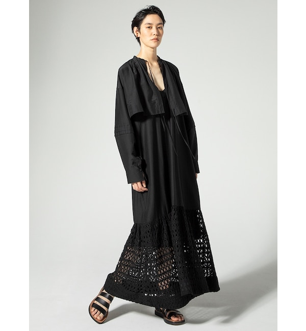シルクコットンレイヤードドレス