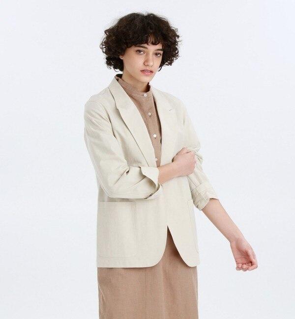 コットンリネンビークジャケット