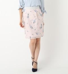 【ミッシュマッシュ/MISCH MASCH】 【雑誌掲載】 花柄プリントレーススカート [送料無料]