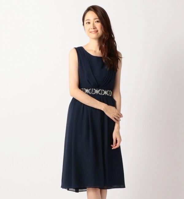 【ミューズ/Mew's】 ウエスト装飾ドレス [送料無料]