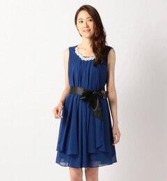 【ミューズ リファインド クローズ/MEW'S REFINED CLOTHES】 ベルト付きドレス [送料無料]