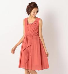 【ミューズ リファインド クローズ/MEW'S REFINED CLOTHES】 ウエストフリルドレス《結婚式/二次会/謝恩会/パーティー》 [送料無料]