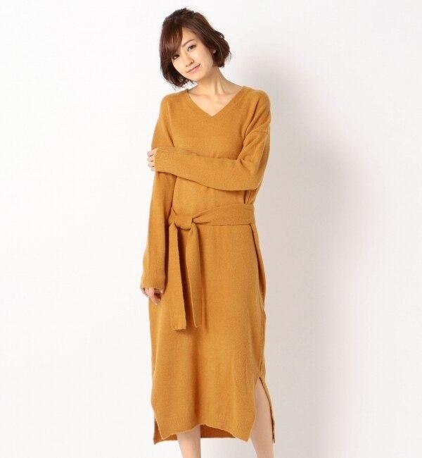 【ミューズ/Mew's】 ラップリボンニットワンピース [送料無料]