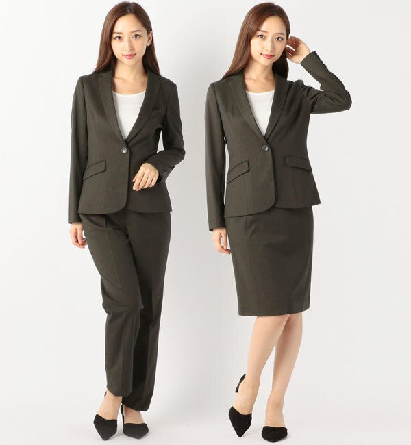 【ミューズ リファインド クローズ/MEW'S REFINED CLOTHES】 ストレッチストライプスーツ《入学式/卒業式/フォーマル/セレモニー》