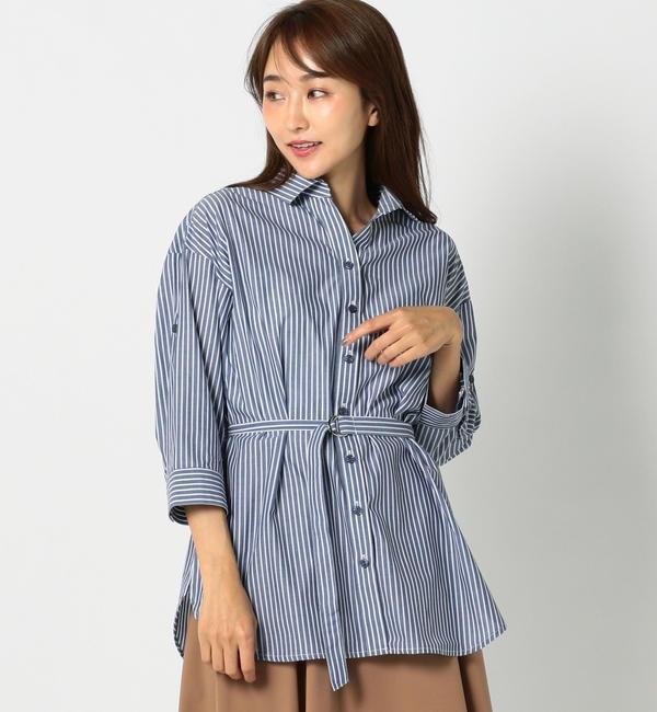 【ミューズ リファインド クローズ/MEW'S REFINED CLOTHES】 CVCシャツチュニック