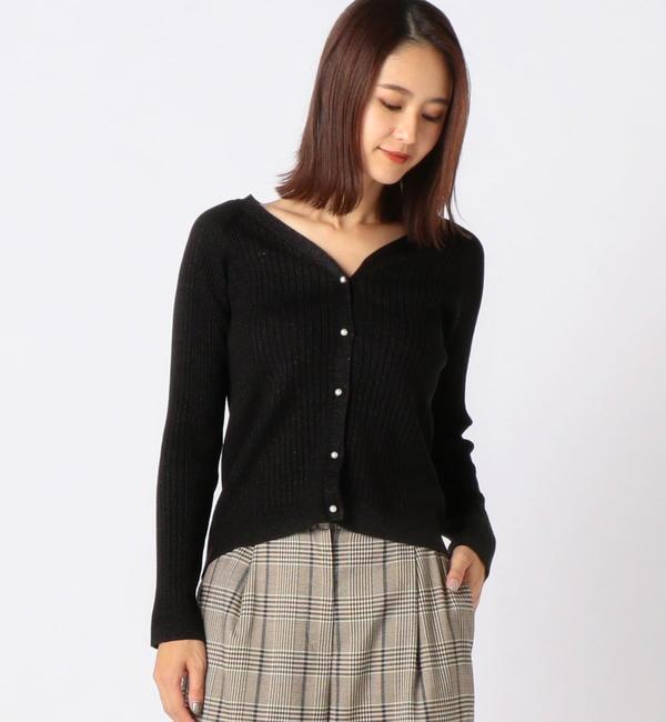 【ミューズ リファインド クローズ/MEW'S REFINED CLOTHES】 Vリブラメカーディガン