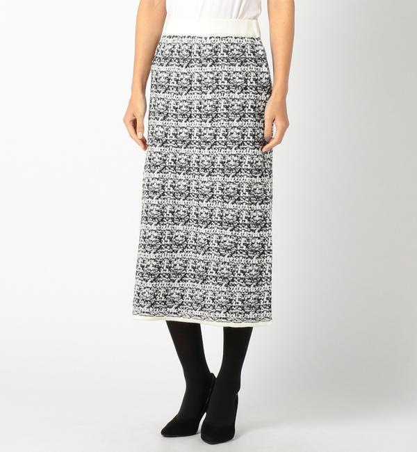 【ミューズ リファインド クローズ/MEW'S REFINED CLOTHES】 ミックスツイードニットスカート