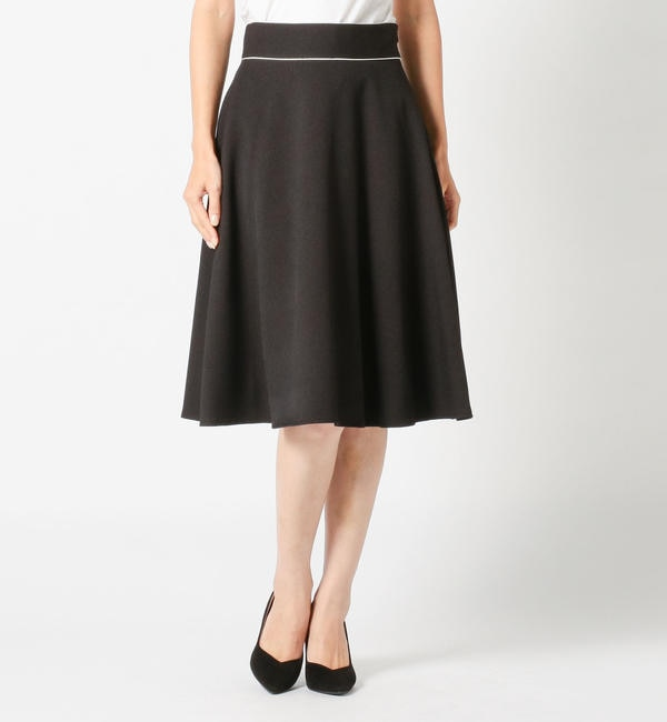 【ミューズ リファインド クローズ/MEW'S REFINED CLOTHES】 ウエストパイピングサーキュラーフレアスカート