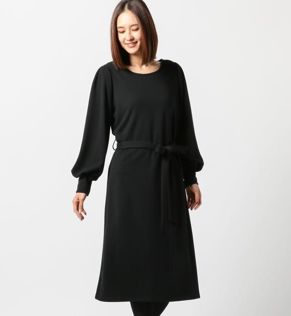 【ミューズ リファインド クローズ/MEW'S REFINED CLOTHES】 ひも付カラーベーシックワンピース