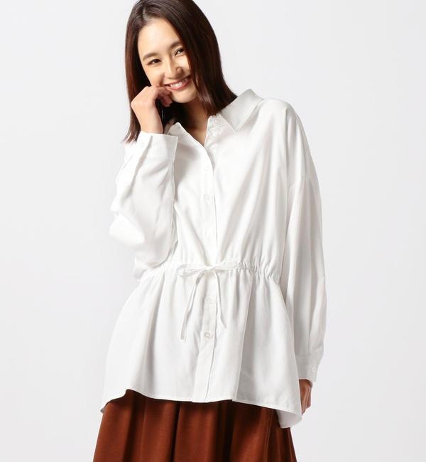 【ミューズ リファインド クローズ/MEW'S REFINED CLOTHES】 ウエスト紐シャツチュニック