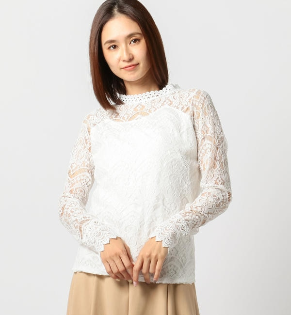 【ミューズ リファインド クローズ/MEW'S REFINED CLOTHES】 レースブラウス