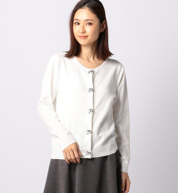 【ミューズ リファインド クローズ/MEW'S REFINED CLOTHES】 カラービジュー付カーディガン