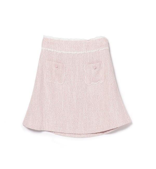 【ロディスポット/LODISPOTTO】 バックティアード台形スカート/ mille fille closet