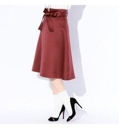 【ギルドプライム/GUILD PRIME】 【LOVELESS】WOMENS ボルドーサテンスカート [送料無料]