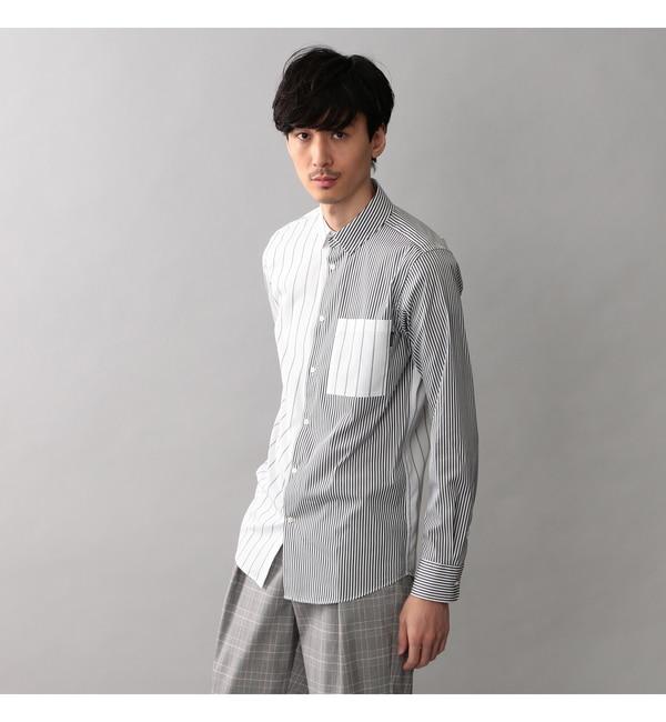 【ギルドプライム/GUILD PRIME】 【GUILD PRIME】MENS ブロッキングストライプシャツ