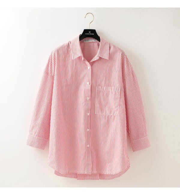 【STATESIDE】WOMENS オックスフォードシャツ【ギルドプライム/GUILD PRIME レディス Tシャツ・カットソー ピンク ルミネ LUMINE】