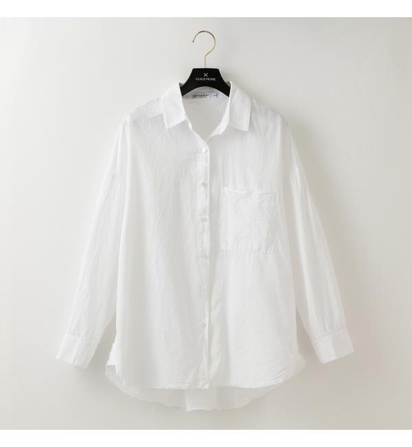 【STATESIDE】WOMENS オックスフォードシャツ【ギルドプライム/GUILD PRIME レディス Tシャツ・カットソー ホワイト ルミネ LUMINE】