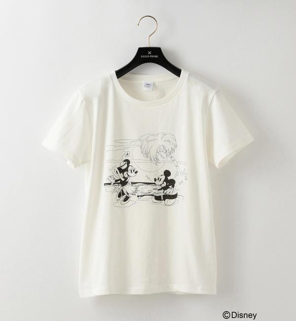 【ギルドプライム/GUILD PRIME】 *CanCam掲載*【LOVELESS】WOMENS ディズニー限定デザインTシャツ(ミッキーマウス)