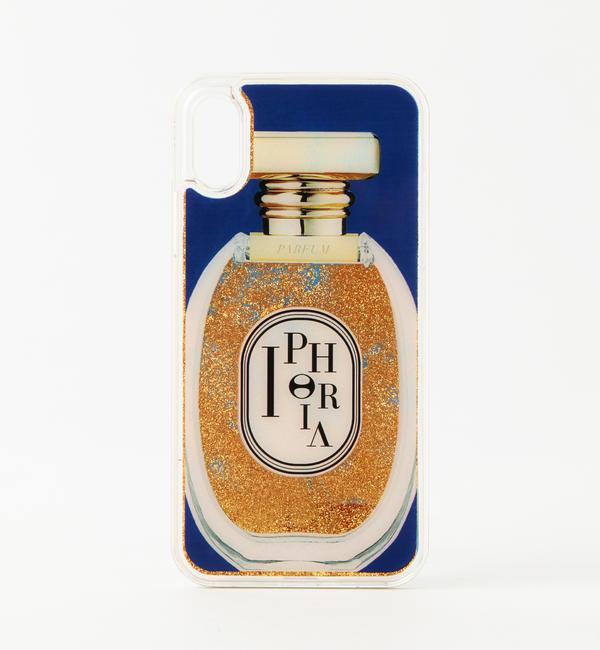 アイルミネで買える「【ギルドプライム/GUILD PRIME】 ☆☆【IPHORIA】iPhoneケース(iPhoneX対応-PERFUME ROUND BLUE & GOLDEN GLITTER LIQUID-」の画像です。価格は8,316円になります。