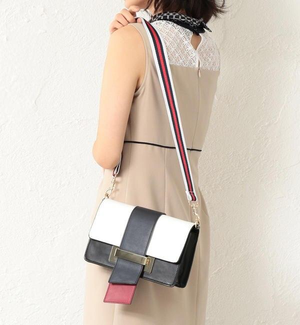 【ラブレス/LOVELESS】 【GUILD PRIME】WOMEN カラーブロッキングワイドベルトショルダーバッグ