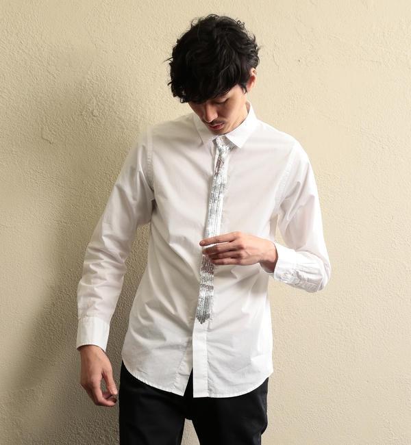 【ギルドプライム/GUILD PRIME】 【LOVELESS】MEN スパンコールネクタイシャツ