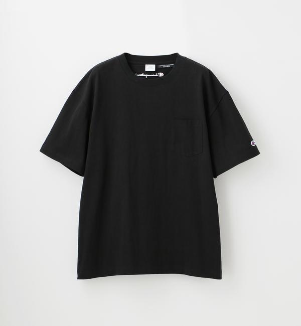 【ギルドプライム/GUILD PRIME】 【Champion】MEN 別注ビッグシルエットエンブロイダリーポケットTシャツ