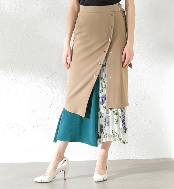 【ラブレス/LOVELESS】 【LOVELESS】WOMEN 2in1レイヤードスカート
