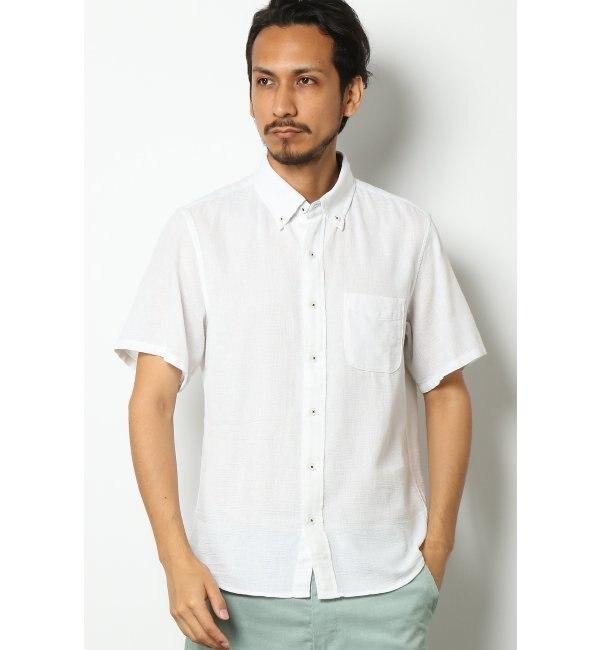 【イッカ/ikka】 COOLMAX クールマックス パナマボタンダウンシャツ