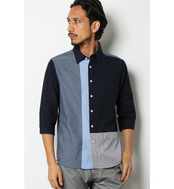 【イッカ/ikka】 7Sブロックキリカエシャツ