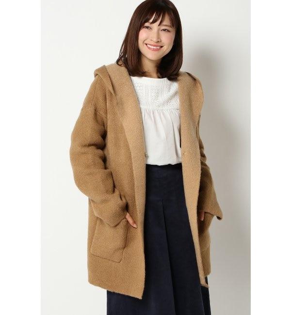 【イッカ/ikka】 5Gダブルフェイスハーフニットジャケット