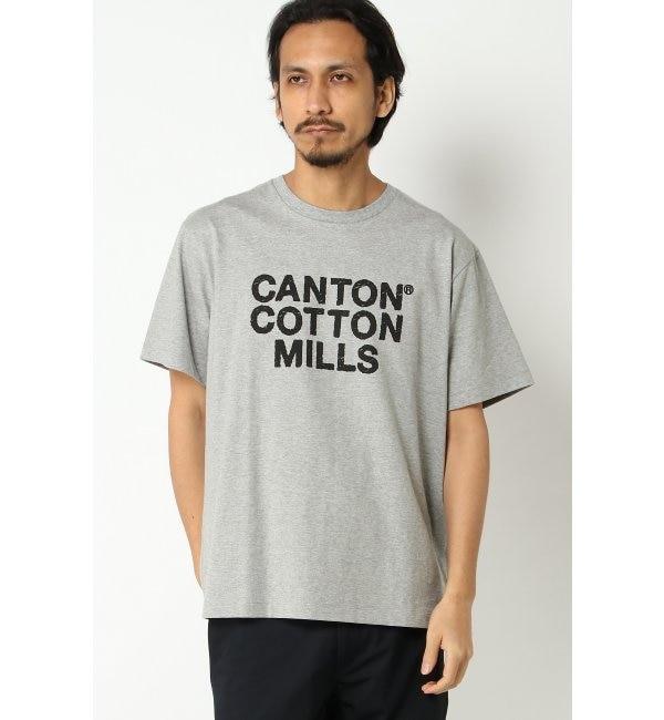 【イッカ/ikka】 CANTON COTTON MILLS ロゴプリントT