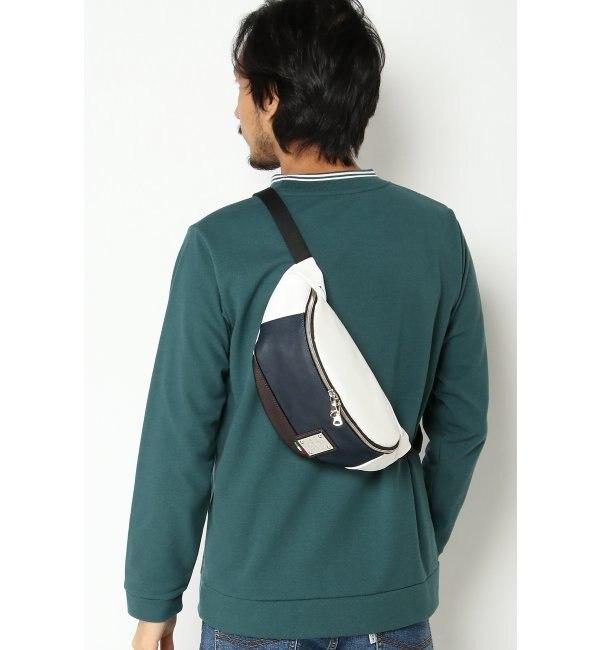 【イッカ/ikka】 Bianchi ビアンキ バイカラーウエストバッグ