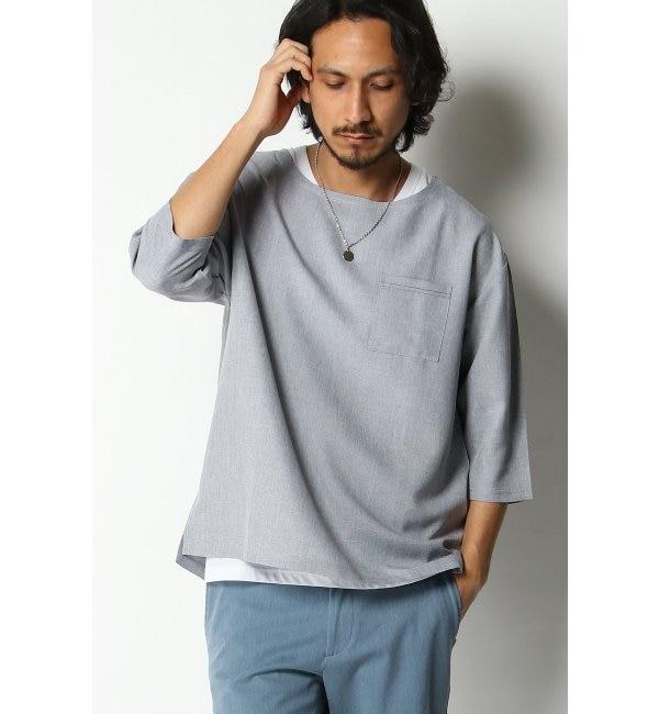 【イッカ/ikka】 7分アンサンブルシャツTシャツ