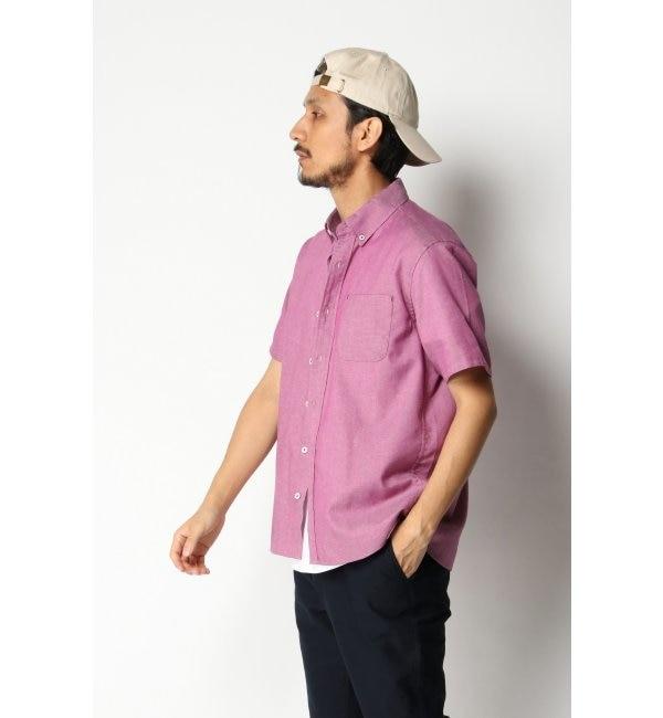 【イッカ/ikka】 麻混イージーケアボタンダウンシャツ