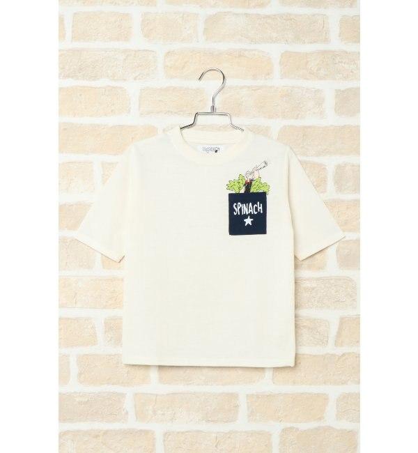 【イッカ/ikka】 【キッズ】ポパイコラボ胸ポケTシャツ(120~160cm)