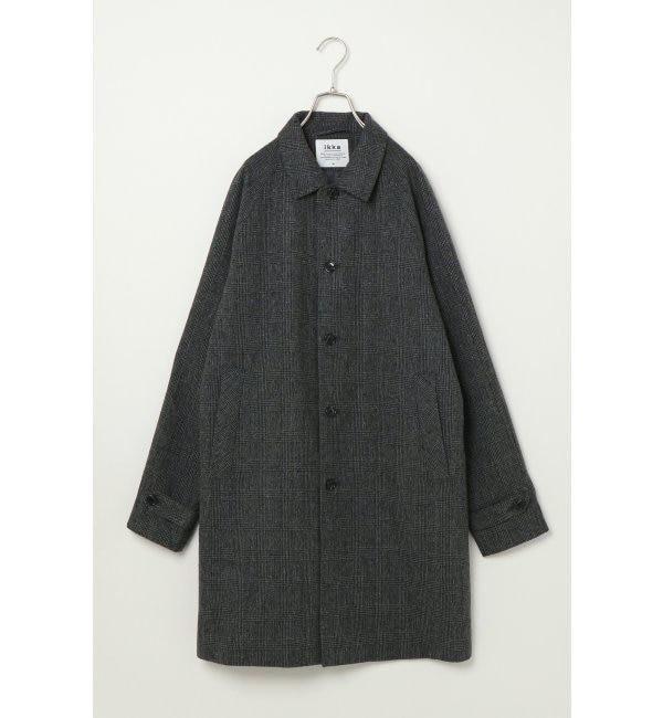 【イッカ/ikka】 グレンチェックステンカラーコート