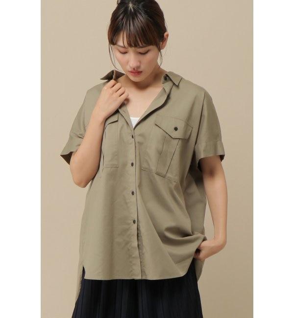 【イッカ/ikka】 綿レーヨンダブルポケットシャツ