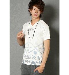 アクセサリーツキオルテガTシャツ【ヴァンスシェアスタイル/VENCE share style メンズ Tシャツ・カットソー オフホワイト ルミネ LUMINE】