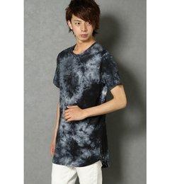 タイダイロングタケTシャツ【ヴァンスシェアスタイル/VENCE share style メンズ Tシャツ・カットソー ブラック ルミネ LUMINE】