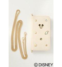 【WEB限定】Disney(ディズニー)ミッキーマウスビンズiphoneケース【ヴァンスシェアスタイル/VENCE share style レディス モバイルケース オフホワイト ルミネ LUMINE】