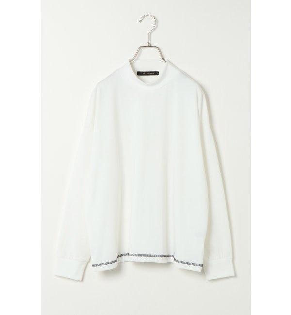 【ヴァンスシェアスタイル/VENCE share style】 モックネックロングTシャツ