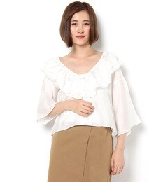 【フラワー/flower】 butterfly flare blouse ?バタフライフレアブラウス [送料無料]